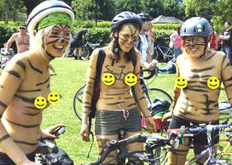 Brighton Magazine - Brighton Naked Bike Ride Celebrates Re
